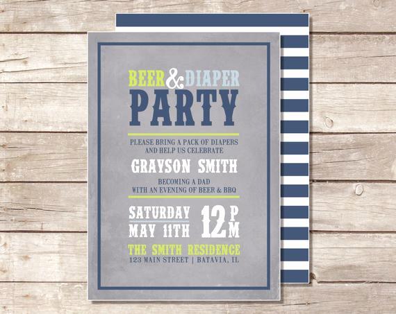 Diaper Party Invitation Wording Unique Items Similar to Beer & Diaper Party Invitation