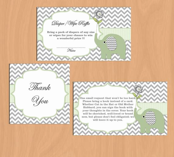 Diaper Raffle Invitation Inserts Best Of Baby Shower Invitation Insert Diaper Raffle Bring A Book Thank
