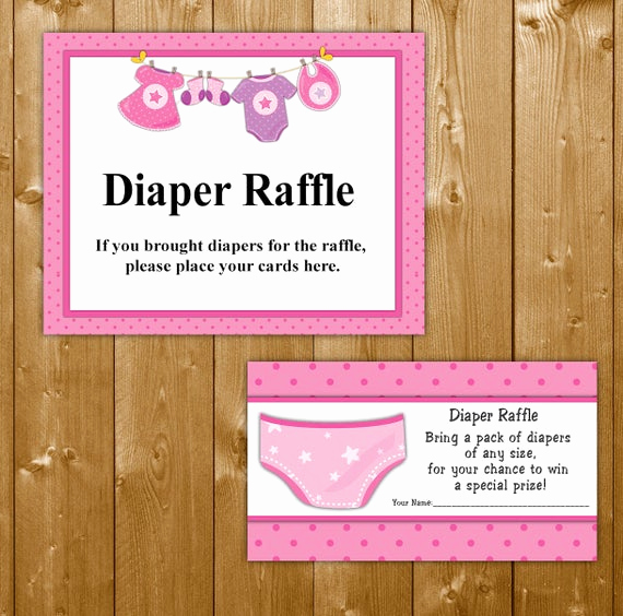 Diaper Raffle Invitation Inserts Fresh Traditional Diaper Raffle Baby Shower Invitation Insert