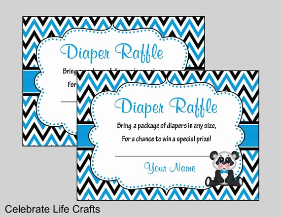Diaper Raffle Invitation Inserts New Panda Baby Shower Diaper Raffle Invitation Inserts