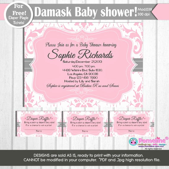 Diaper Raffle Wording On Invitation Best Of Printable Duo Invitation and Diaper Raffle by Pomelinestudio