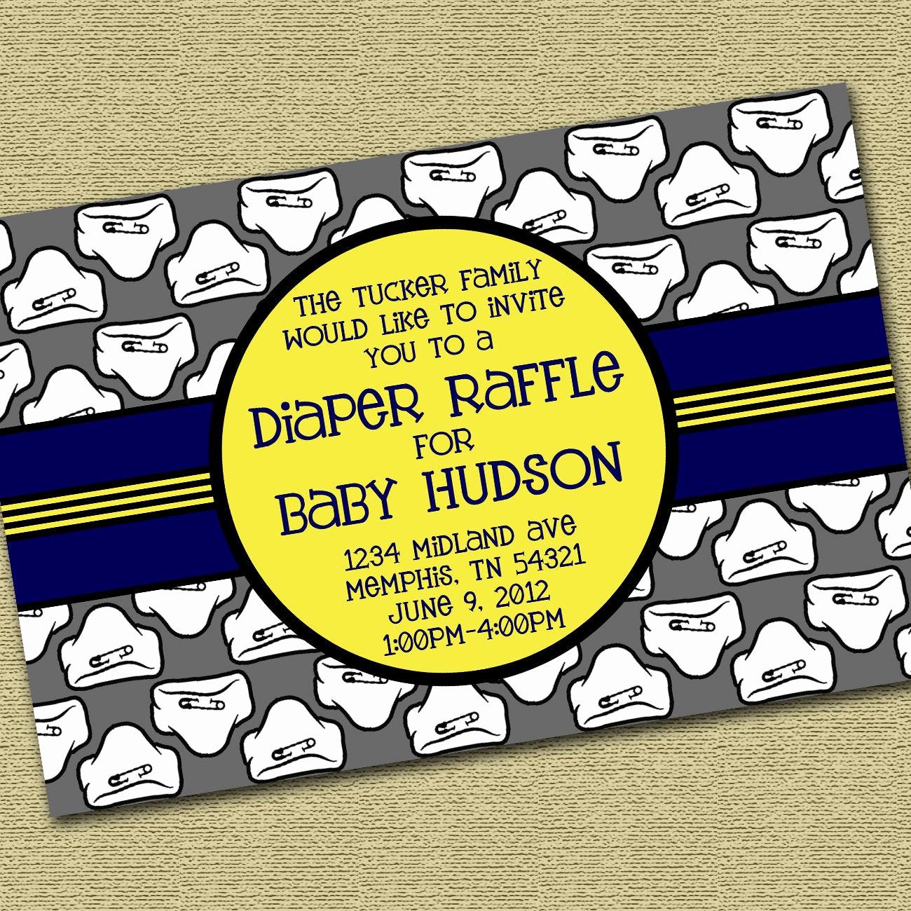 Diaper Raffle Wording On Invitation Luxury Diaper Raffle Baby Shower Invitation Package by 3casastudios