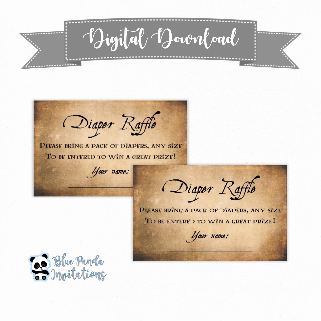 Diaper Raffle Wording On Invitation Luxury Diaper Raffle Invitation Inserts Baby Shower Downloadable