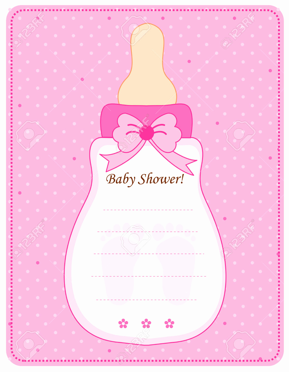 Diaper Shower Invitation Template Awesome Baby Girl Invitation Templates