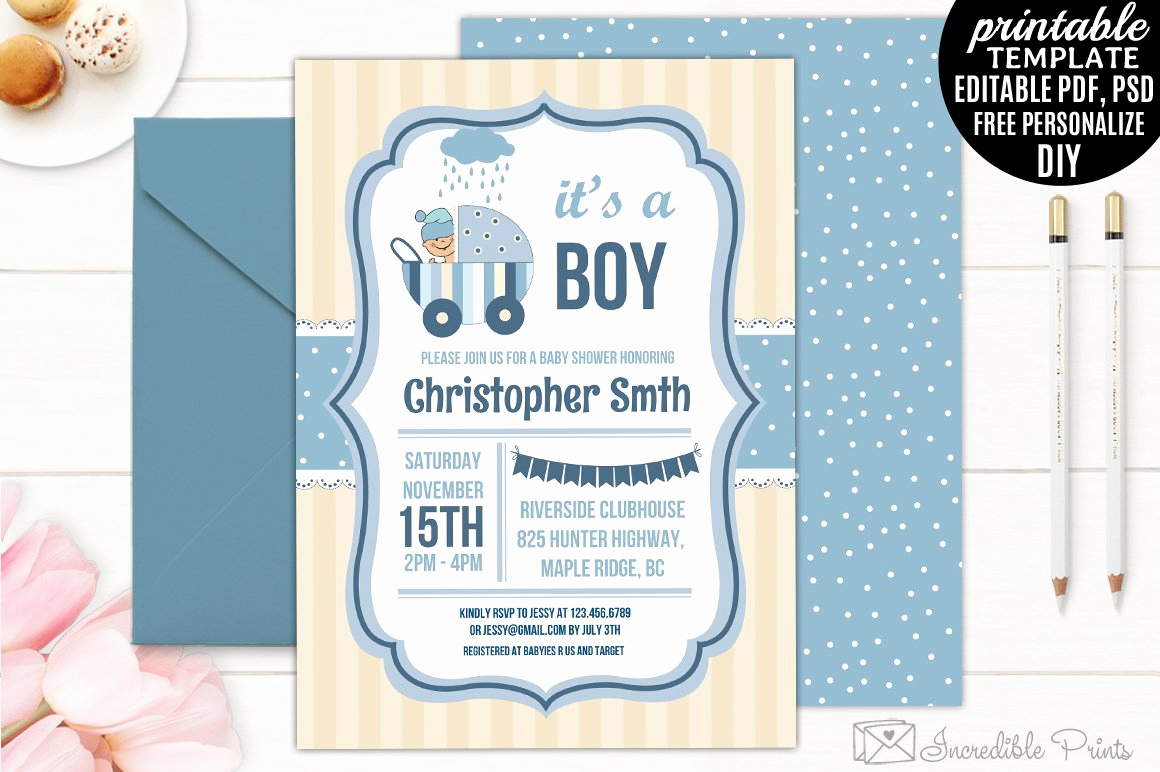 Diaper Shower Invitation Template Elegant Boy Baby Shower Invitation Template Invitation Templates