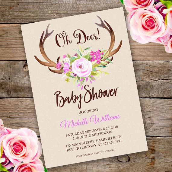 Diaper Shower Invitation Template Lovely 25 Best Ideas About Deer Baby Showers On Pinterest