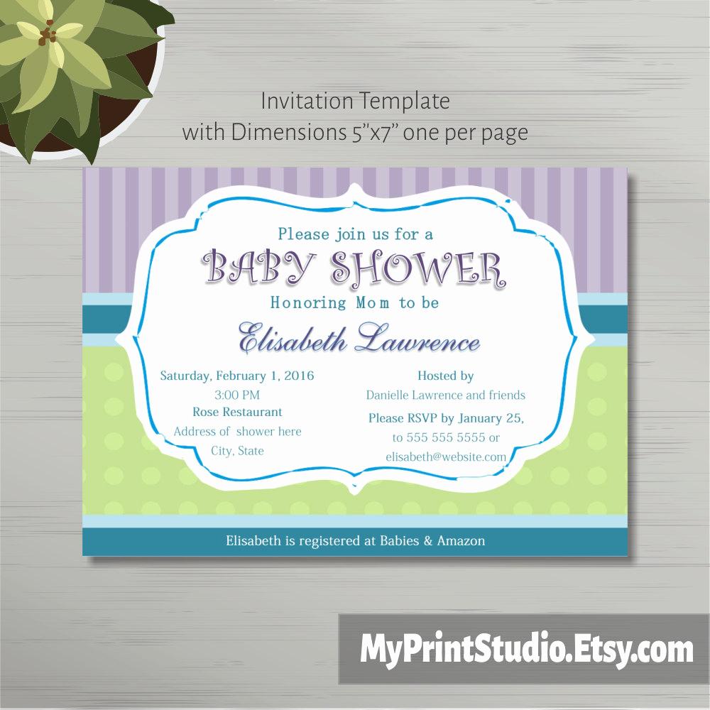 Diaper Shower Invitation Template Unique Printable Baby Shower Invitation Template In Ms Word Boy Girl