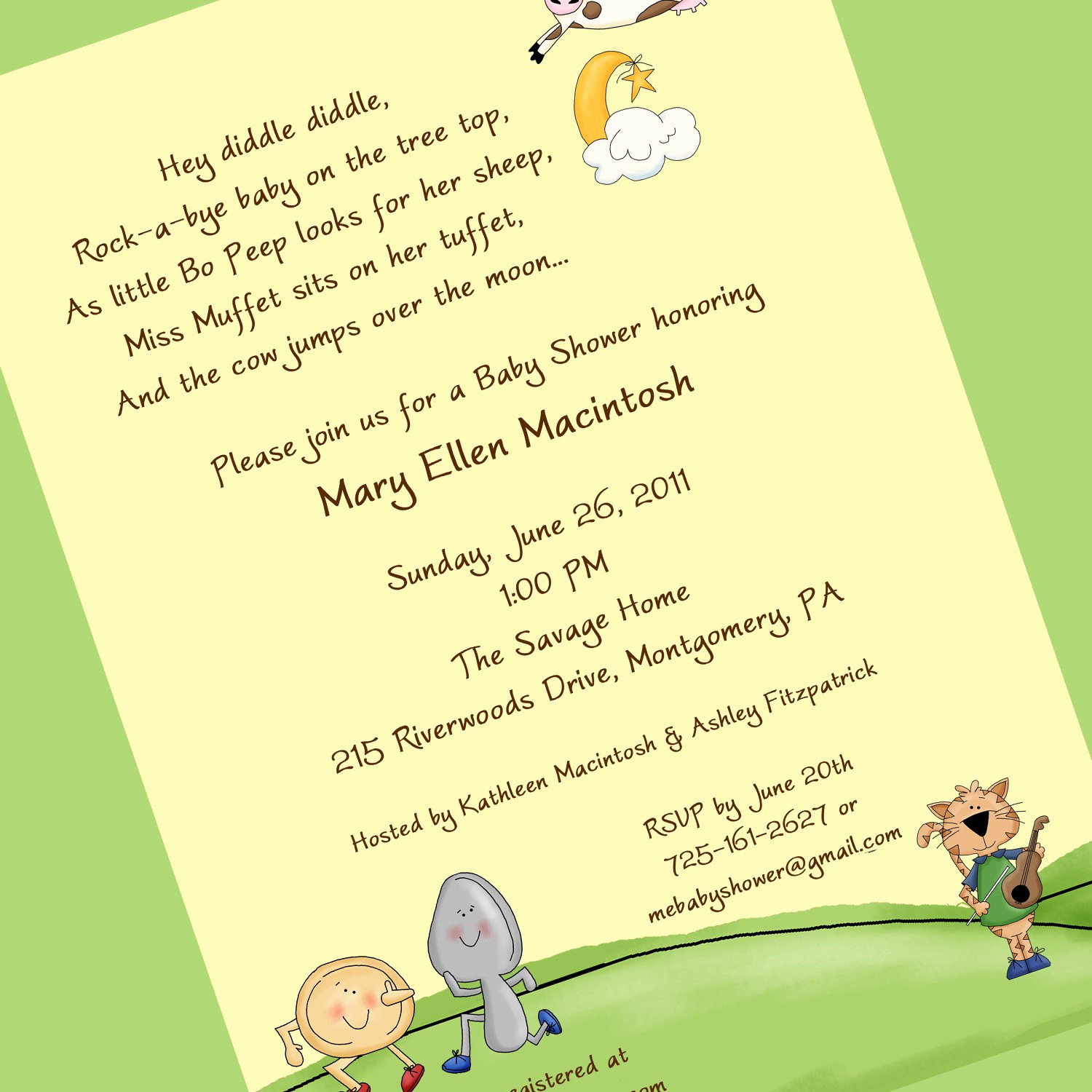 Diaper Shower Invitation Wording Inspirational Nursery Rhyme Baby Shower Invitation Printable Invitation