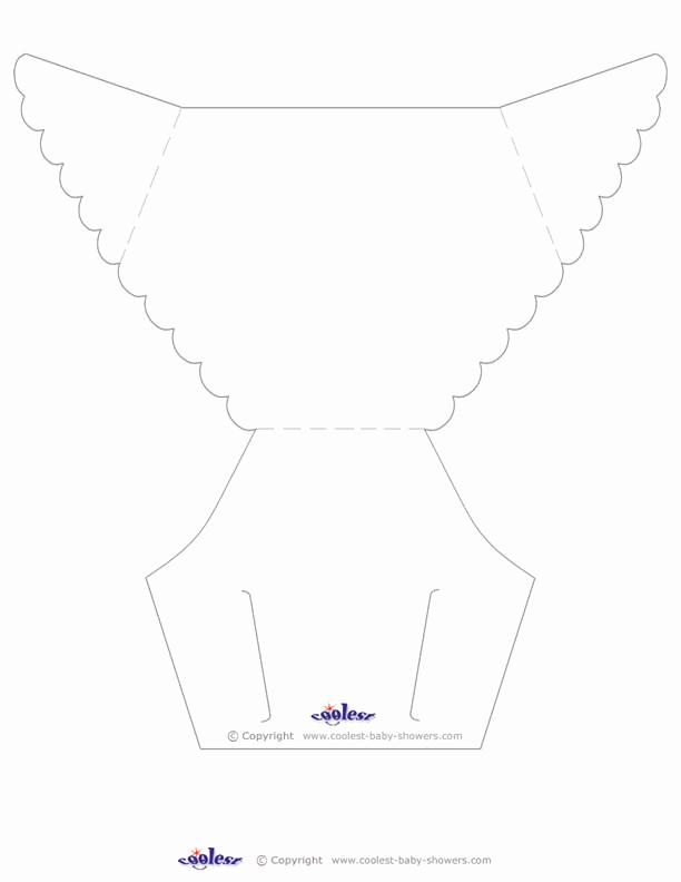 Diaper Template for Invitation Elegant 5 2 Free Unique Baby Shower Invites