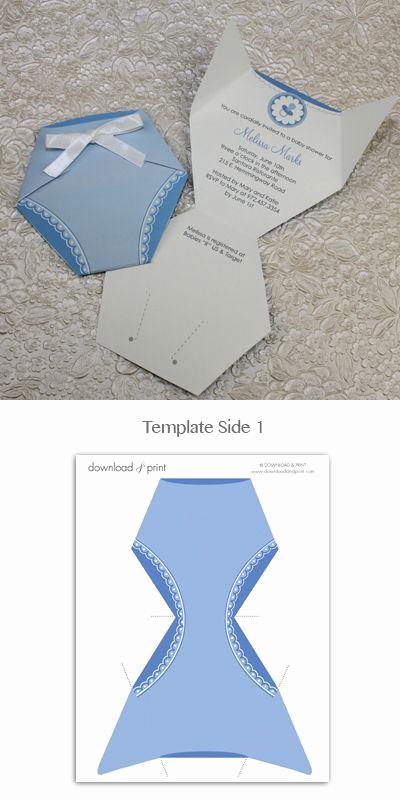 Diaper Template for Invitation Elegant Best 25 Diaper Invitation Template Ideas On Pinterest
