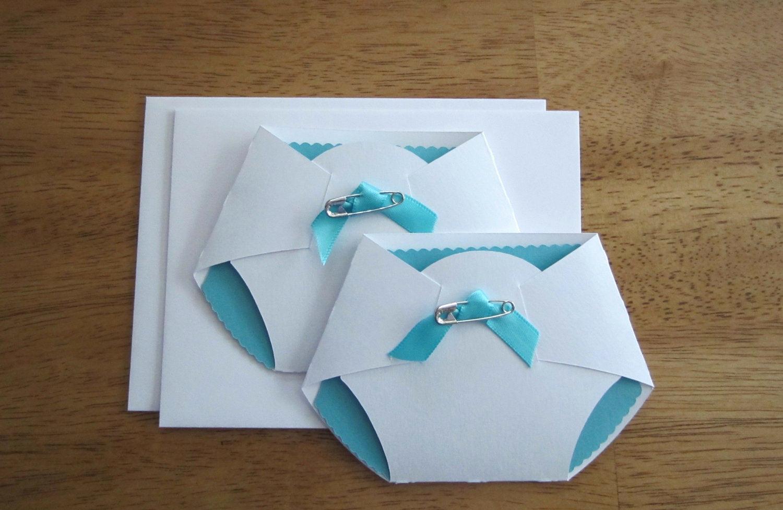 Diaper Template for Invitation Lovely Handmade Baby Shower Invitation Diaper