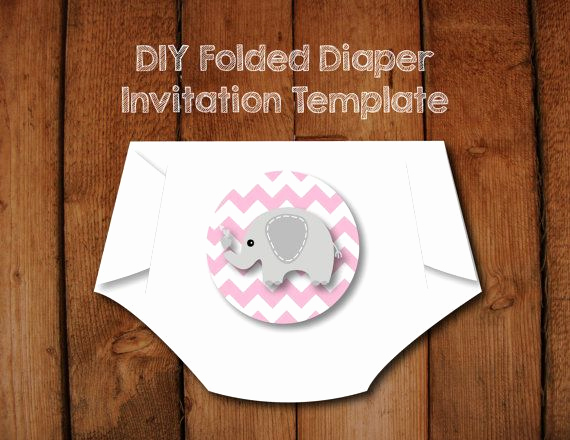 Diaper Template for Shower Invitation Beautiful 17 Best Ideas About Diaper Invitation Template On