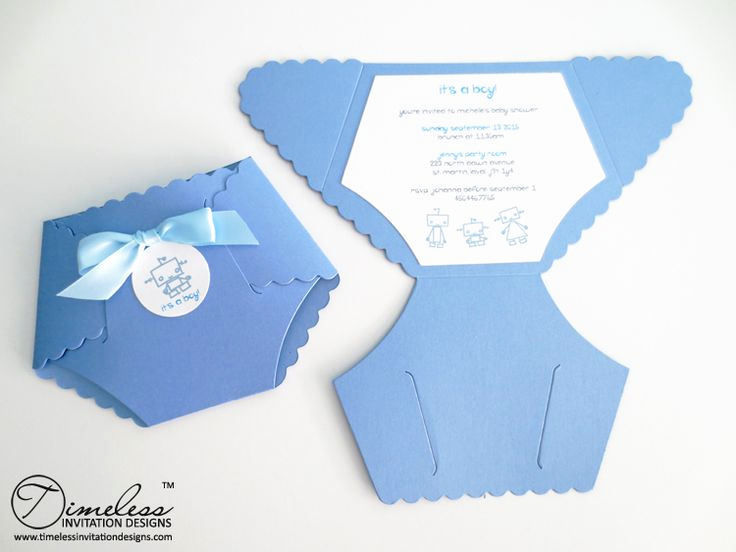 diaper invitation template