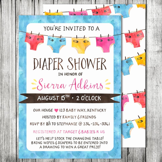 Diapers and Wipes Shower Invitation Elegant Gender Neutral Diapers Baby Shower Diapers & Wipes Baby