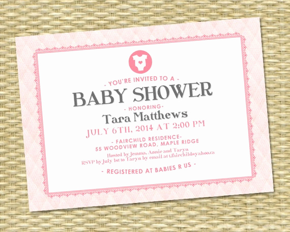Diapers and Wipes Shower Invitation Elegant Printable Baby Girl Shower Invitation Baby Shower Invite