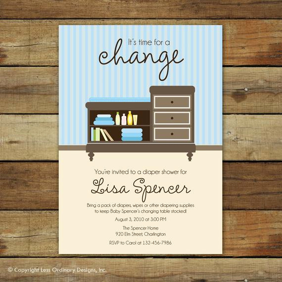 Diapers and Wipes Shower Invitation Luxury Diaper Shower Invitation Changing Table Baby Boy Shower