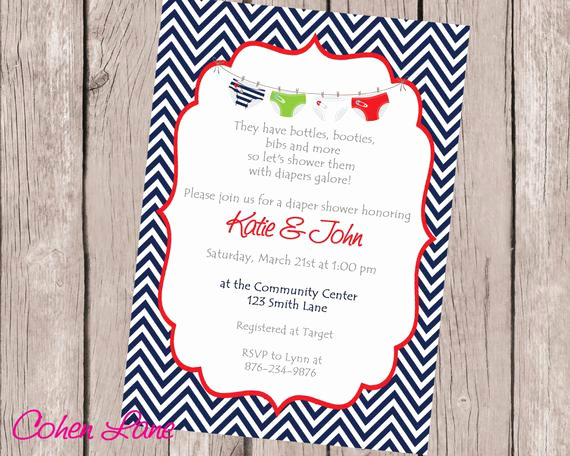 Diapers and Wipes Shower Invitation Luxury Diaper Shower Invitation Printable Boy Baby Shower