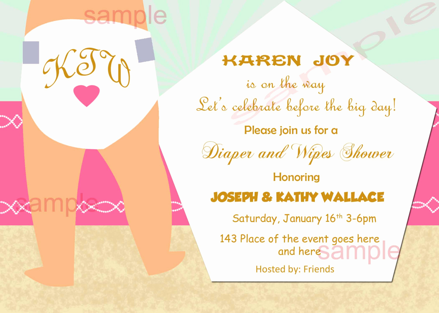 Diapers and Wipes Shower Invitation New Diapers and Wipes Baby Shower Invitation Diaper Baby Shower