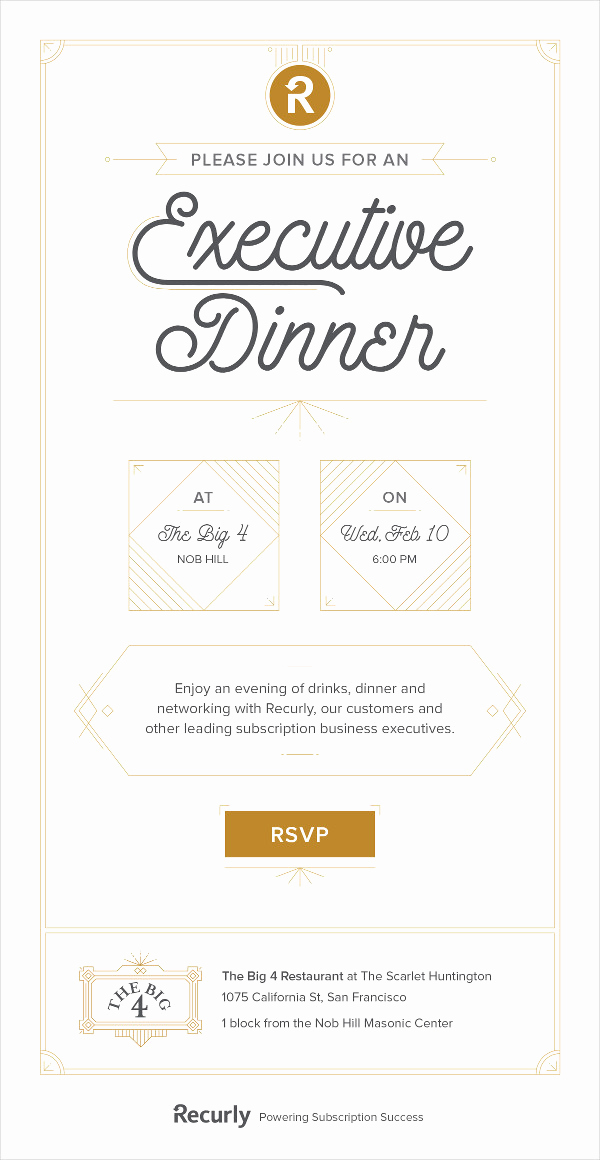 Dinner Invitation Email Template Best Of 23 Business Invitation Designs & Examples Psd Ai