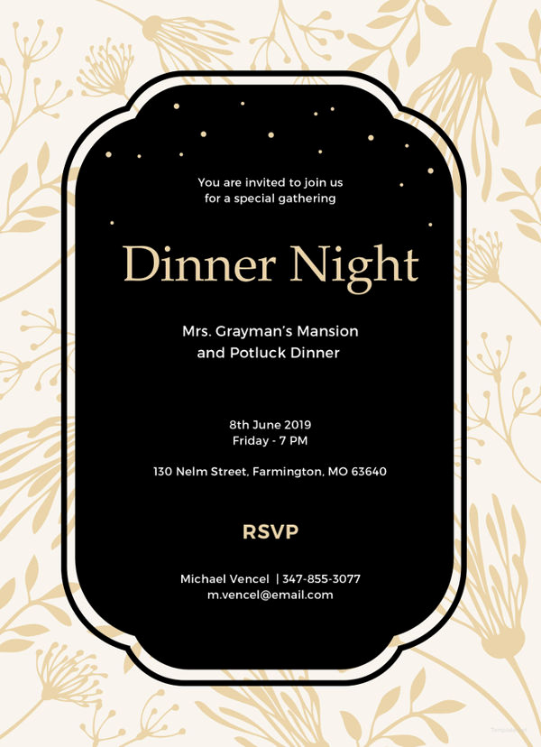 Dinner Invitation Email Template Fresh 13 Team Dinner Invitations Jpg Vector Eps Ai