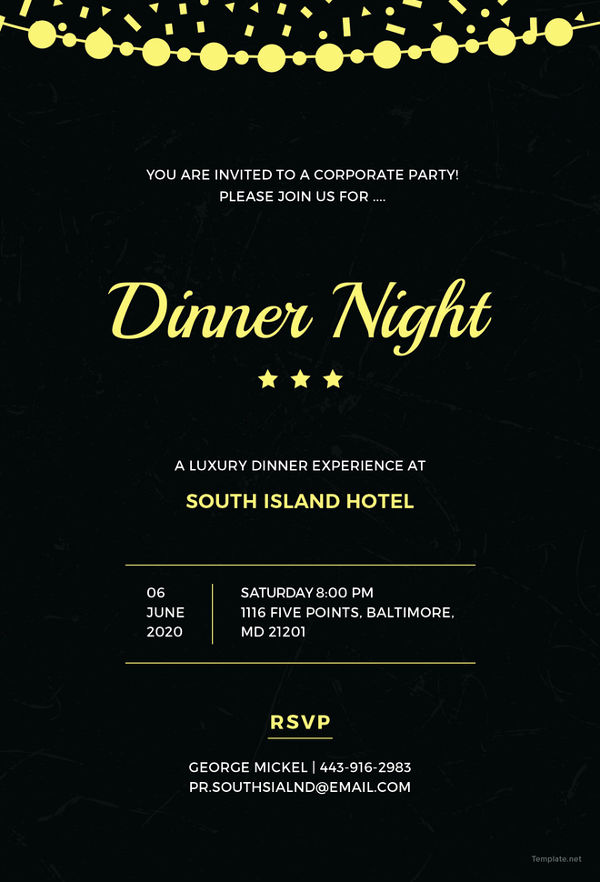Dinner Invitation Email Template Fresh 47 Dinner Invitation Templates Psd Ai