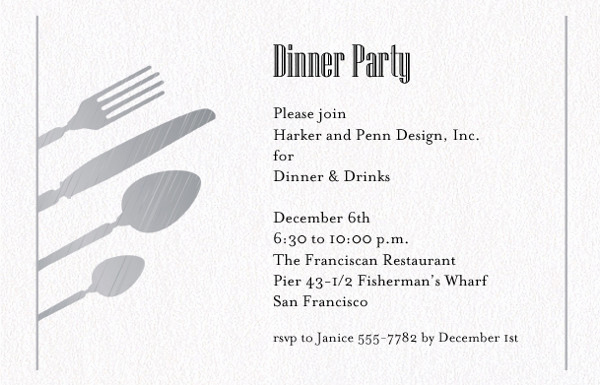 Dinner Invitation Email Template Luxury 45 Invitation formats Psd Ai