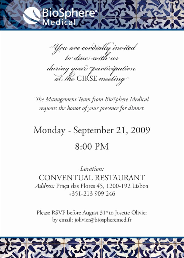 Dinner Invitation Email Template Unique 52 Meeting Invitation Designs