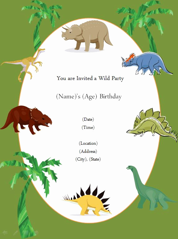 Dinosaur Birthday Invitation Template Awesome Free Printable Invite Dinosaur Party In 2019
