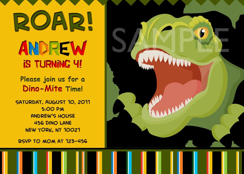 Dinosaur Birthday Invitation Template Beautiful Free Dinosaur Invitation