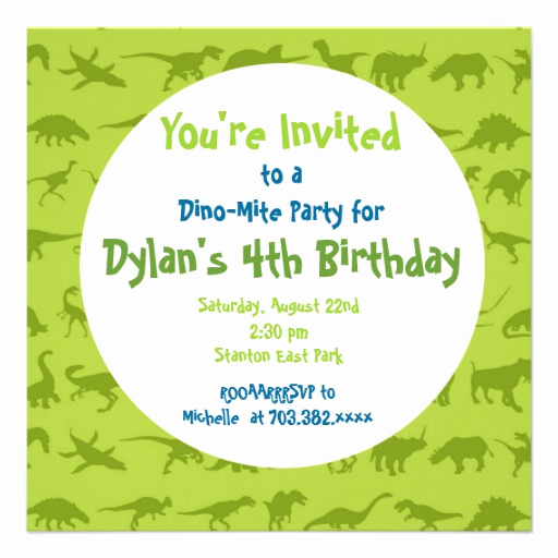 Dinosaur Birthday Invitation Template Best Of Cute Dinosaur Birthday Party Invitation Templates 5 25