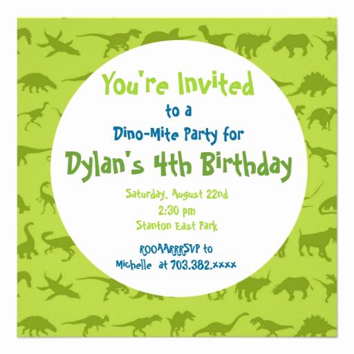 Dinosaur Birthday Invitation Template Best Of Cute Dinosaur Birthday Party Invitation Templates 5 25