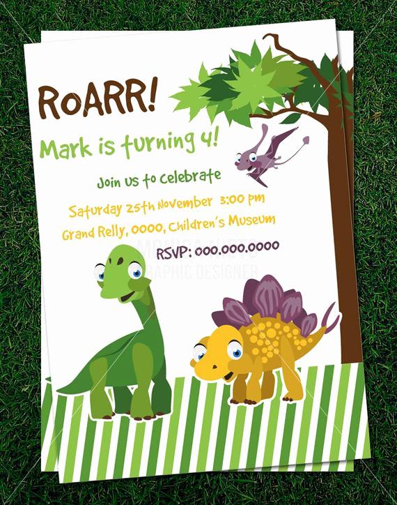 Dinosaur Birthday Invitation Template Best Of Items Similar to Custom Printable Dinosaur Party Birthday