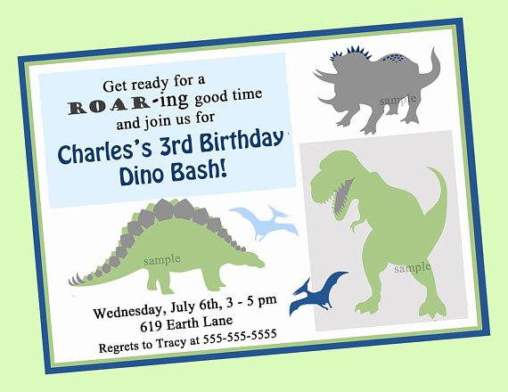 Dinosaur Birthday Invitation Template Elegant Dinosaur Birthday Invitation Printable or Printed with Free