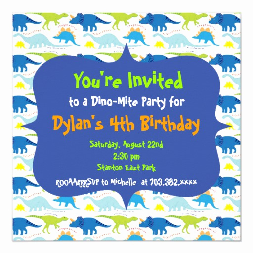 Dinosaur Birthday Invitation Template Fresh Cute Dinosaur Birthday Party Invitation Templates