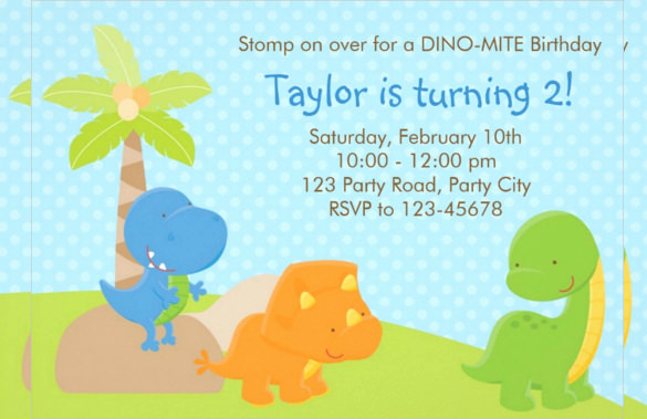 Dinosaur Birthday Invitation Template Inspirational 26 Dinosaur Birthday Invitation Templates – Free Sample