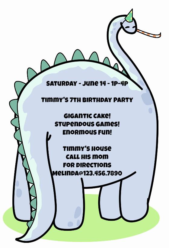 Dinosaur Birthday Invitation Template Inspirational Dinosaur Birthday Invitation Template Free