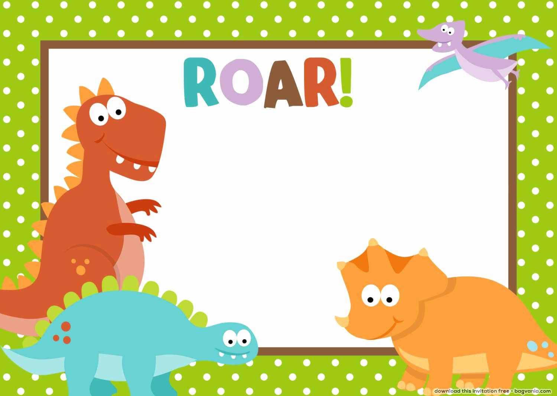 Dinosaur Birthday Invitation Template Inspirational Free Dinosaur Birthday Invitations – Free Printable
