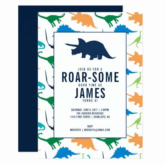 Dinosaur Birthday Invitation Template Lovely Preppy Boy Dinosaur Birthday Party Invitation