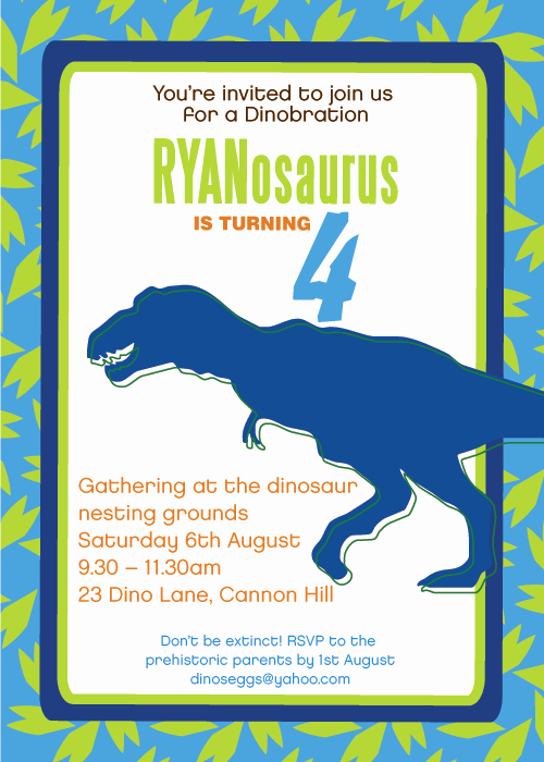 Dinosaur Birthday Invitation Template Lovely Printable Dinosaur Invitations