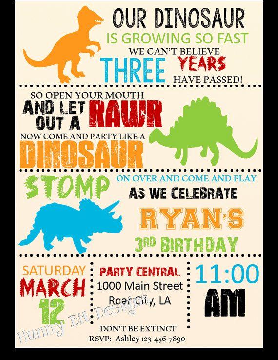 Dinosaur Birthday Invitation Template Luxury 25 Best Dinosaur Birthday Invitations Ideas On Pinterest