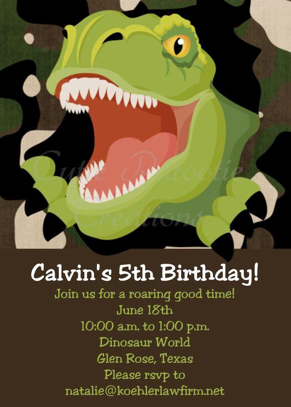 Dinosaur Birthday Invitation Template Luxury 25 Best Ideas About Dinosaur Birthday Invitations On