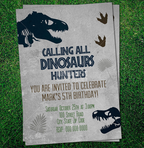 Dinosaur Birthday Invitation Template Luxury Custom Printable Jurassic Dinosaur Party Birthday Invitation