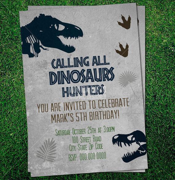 Dinosaur Birthday Invitation Template Luxury Custom Printable Jurassic Dinosaur Party Birthday Invitation