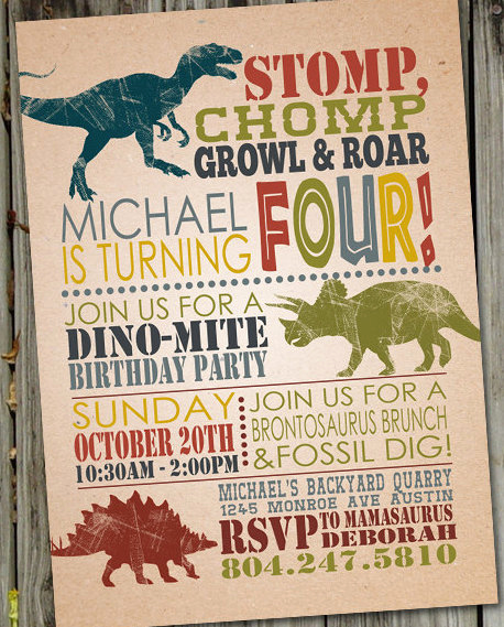 Dinosaur Birthday Invitation Template New Jurassic World Dinosaur Party Planning Ideas & Supplies