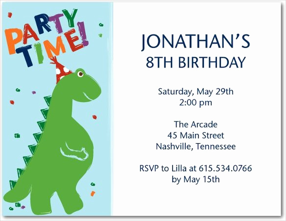Dinosaur Birthday Invitation Template Unique 19 Roaring Dinosaur Birthday Invitations
