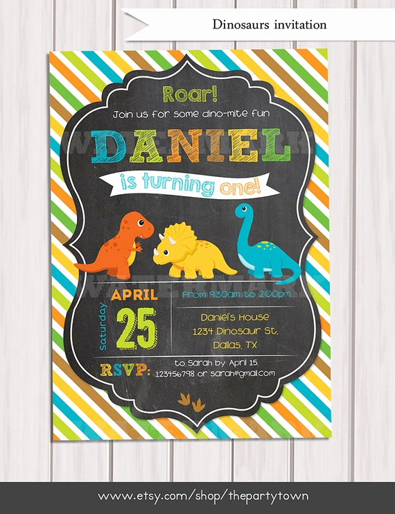 Dinosaur Birthday Invitation Template Unique Dinosaur Birthday Invitation Dinosaur Chalkboard Invitation