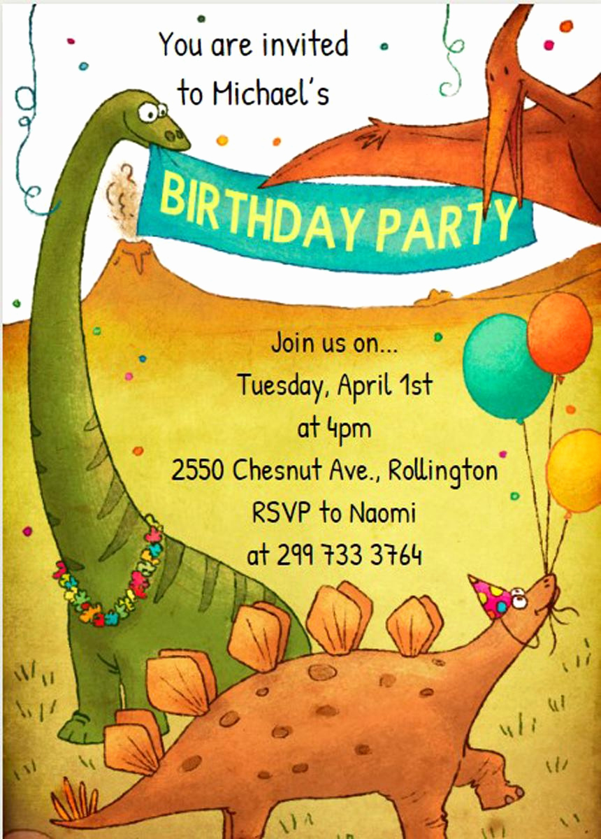 Dinosaur Birthday Invitation Wording Awesome 17 Dinosaur Birthday Invitations How to Sample Templates