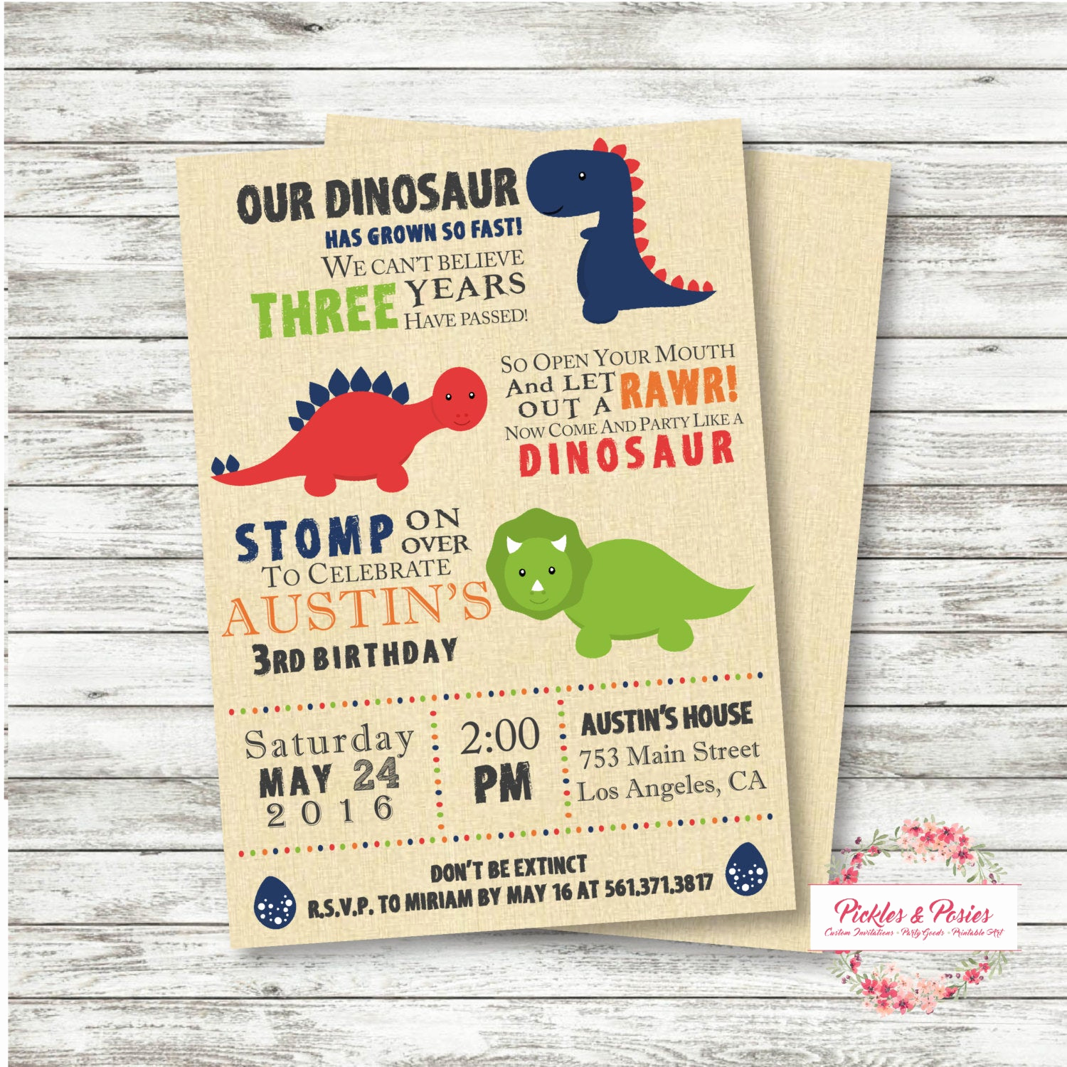 dinosaur birthday invitation dinosaur