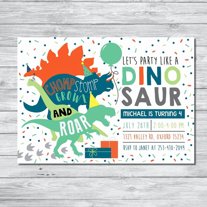 Dinosaur Birthday Invitation Wording Elegant Dinosaur Birthday Party Invitation Dinosaur Birthday Boy