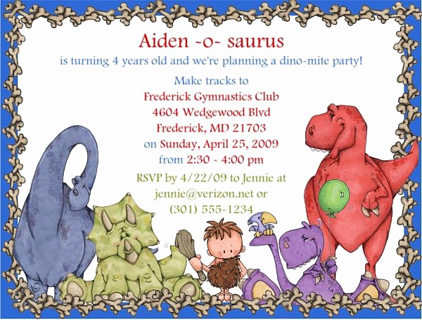 Dinosaur Birthday Invitation Wording Elegant Dinosaur Party Invitation